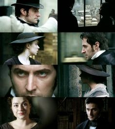 North and South BBC miniseries. BBC does it right. Elizabeth Gaskell, Jane Austen, Romance, John Thornton, Bronte Sisters, Bbc Drama, Look Back At Me, Cinema, North South