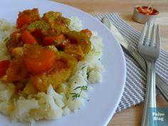 2 porce: 4 – 5 plátků (medailonků) vepřové panenky nebo 2 kuřecí / krůtí prsa (na tento recept jsou vhodnější jemnější druhy masa), na nudličky nebo kostky 1 střední mrkev, na kousky kousek cibule,...