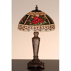 Meyda Tiffany 37790 Stained Glass / Tiffany Accent Table Lamp