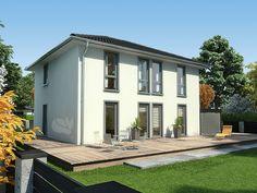 Stadtvilla weiße klinker  Mediterrane moderne Stadtvilla bauen - mit Garage und Klinker ...