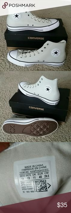 1/2 OFF! Converse All Star Chuck Taylor High Tops Unisex shoes size M11W13, Leather!!! Very nice! Converse Shoes Sneakers