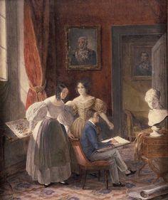A infancia de Pedro II com suas irmas