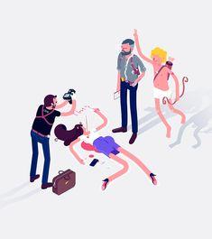 Awesome selection of digital illustrations by Poland-based artist Igor Kozak, aka Rocketboy.  More illustrations via Behance