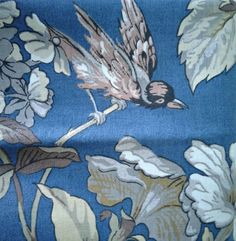 """5th Avenue Designs Vintage Screen Printed Fabric 1.35 Yards x 56"""" Heavy Floral  #5thAvenueDesigns"""
