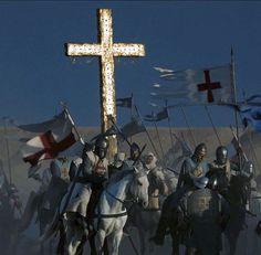 [Montgisard]. Baudouin IV et les plus puissants seigneurs francs avaient avec eux une relique de la Vraie-Croix.