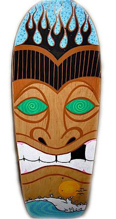 Totem Man Skateboard Art by RadResale on Etsy, $235.00