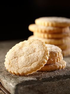 A light dusting of cardamom sugar enhances these melt-in-your-mouth butter cookies. #EuroStyleButter