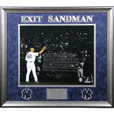 Mariano Rivera Signed & Inscribed Final Game Tipping Cap 20x24 Story Photo (LE42) Elite Framed