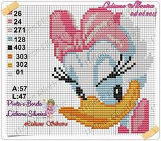 Daisy Duck x-stitch