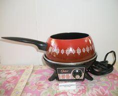 Vintage Oster Electric Fondue Pot Orange by ALEXLITTLETHINGS