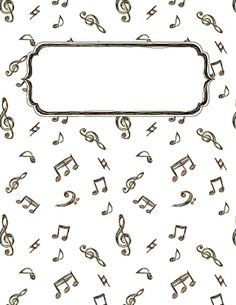Music Doodle Binder Cover