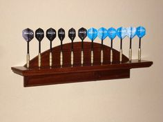 Dart Holder - by Kelen @ ~ woodworking community Furniture Projects, Home Projects, Projects To Try, Woodworking Plans, Woodworking Projects, Wood Crafts, Diy And Crafts, Dart Board Cabinet, Game Room Basement