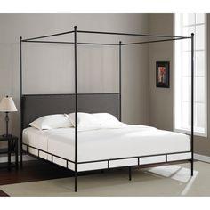 Lauren Grey King-size Metal Canopy Bed | Overstock.com Shopping - The Best Deals on Beds $374.99