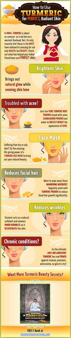 http://wp.me/p5BOvk-z6 Have you ever tried turmeric powder to get rid of unsightly blemishes on your skin or to bring out your skin's natural beauty? You may be surprised that this is the secret of many Asian women's perfect complexion. Click here http://wp.me/p5BOvk-z6 to get more cool beauty hacks from turmeric, the king of spices, in the Kindle best seller (you can get it free).