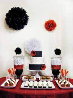 Decorate This!: Cute Black, Red, White party decor!