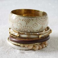 Spun Snow Bangle Bracelet, Women's Sweet Bohemian Jewelry