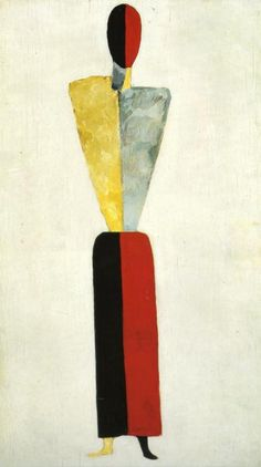 Girl (Figure on White Background) by Kasimir Malevich