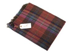 Campbell's of Beauly - Lambswool Serape Red Plaid Cashmere Scarf, Red Plaid, Women Accessories, Cover Up, Women Wear, Lady, Travelling, Pattern, Products