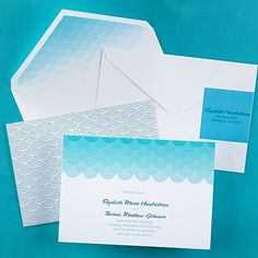 Waves Invitation - Wedding Invitation Ideas - Wedding Invites - Wedding Invitations - Create a FREE Proof Online - Order Sample Invitations #weddings #wedding #invitations