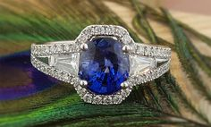 Zoma Color's sapphire, diamond and 18-karat white gold ring retails for $7,250.