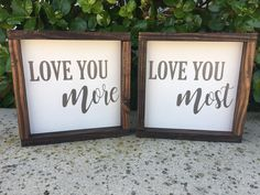 Love you More Love you Most,Bedroom Sign,Rustic wall Decor,Bedroom Decor,Room Decor,When I Say I Love You More,Anniversary gift,Gift for her by SplendidExpressions on Etsy