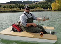 Montana Made Foam Fishing Boats   One Man Fishing Boats   Montana ...