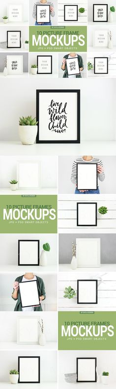 Poster & Picture frame mockup photos - Product Mockups / template