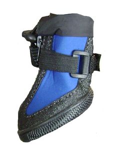 Waterproof Dog Boots for Snow or Rain with Zippers in Black and Blue  606a1cfa7