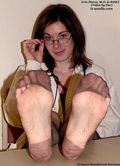 Vintage nylon feet