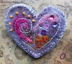 Handmade embroidered Felt brooch handmade corsage accessory Fairy Hippy Boho
