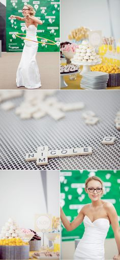 Love the names in the Scrabble tiles    http://www.stylemepretty.com/2011/08/25/minneapolis-wedding-by-iqvideography-olive-juice-studios-mi-mi-design/