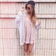 Brandy Melville Blush Rayon Jada Dress