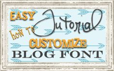 How to change your post titles using Google Web Fonts! Super easy and over 500 fonts to choose from!