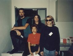 Krist Dave and Kurt Nirvana fan pictures