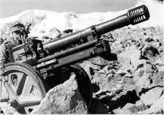 German 75-mm mountain gun Gebirgsgeschütz 36, model 1938 in the Caucasus. Pin by Paolo Marzioli