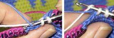 Tapestry Crochet in Finland « Tapestry Crochet Crochet Motifs, Crochet Stitches Patterns, Tunisian Crochet, Stitch Patterns, Love Crochet, Diy Crochet, Mochila Crochet, Caron Yarn, Tapestry Crochet