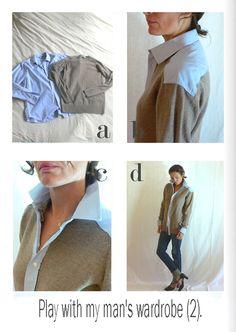 by sophie b. l'éco-design à la française: Fall Winter 12 / 13 - Some plays with my man's wardrobe.