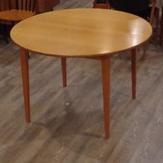 Danish Teak Round Dining Table With Leaf | Vintage Home Boutique