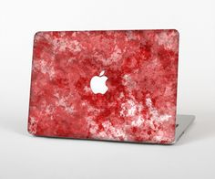 """The Red Splotted Paint Texture Skin Set for the Apple MacBook Pro 15"""" with Retina Display from Design Skinz"""