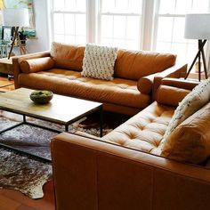 Leather Sofa Cover Non Slip West Elm Leather Sofa, Tan Leather Sofas, Best Leather Sofa, Leather Sectional, Leather Furniture, New Furniture, Furniture Ideas, Tan Sofa, Formal Living Rooms