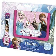 Frozen - Set Relógio Digital e Carteira