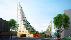 Architects of Invention references one the seven wonders of the ancient world with this design for a residential development in Birmingham, England