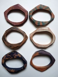 Custom Stacking Wooden Bracelets  Made to order by bhmakes on Etsy, £58.00