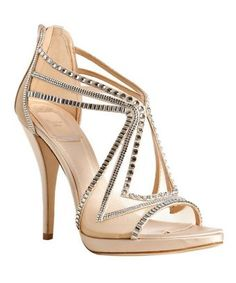 Christian Dior  nude mesh Starlight crystal detail sandals