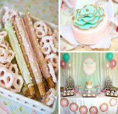 Party Theme: Shabby Chic Baptism Dessert Social