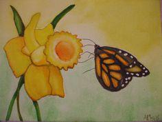 Daffodil & Monarch by AF Morris