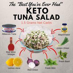 Keto Foods, Keto Snacks, 7 Keto, Paleo, Keto Diet For Beginners, Recipes For Beginners, Best Keto Cookbook, Keto Tuna Salad, Diet Recipes