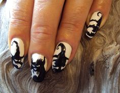 Chrissy August Spooky Silhouette Nails