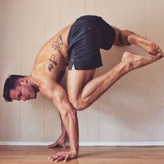 AWESOME variation on a Crow Pose