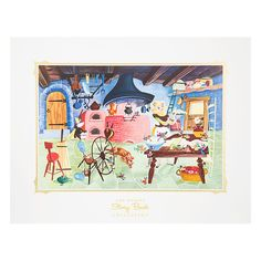 [Story Book Land]Celebrate the art of illustration with our series of vintage deluxe prints derived from classic Story Books of Walt Disney Studio's golden age. This piece reproduces the wraparound cover of Big Golden Book <i>Cinderella</i> (1950).